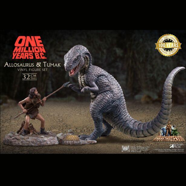 『恐竜100万年』アロサウルス vs.トゥマク ソフビ フィギュア セット