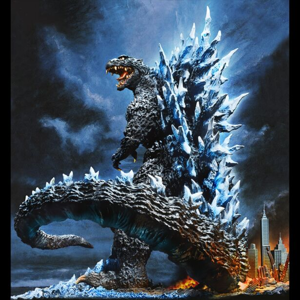 Yuji Sakai Best Works Selection Godzilla(2004) Poster Version Fourth order