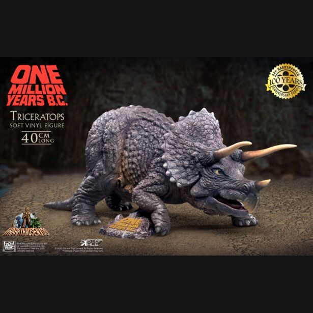 『恐竜100万年』トリケラトプス vs.ロアナ ソフビ フィギュア セット